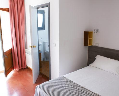 Habitació doble, llit doble, Hostal Plaja Palafrugell